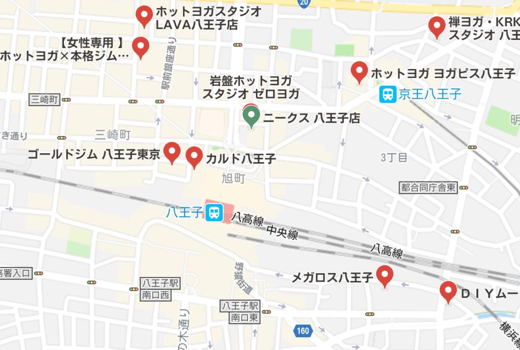 八王子駅周辺のホットヨガスタジオ比較
