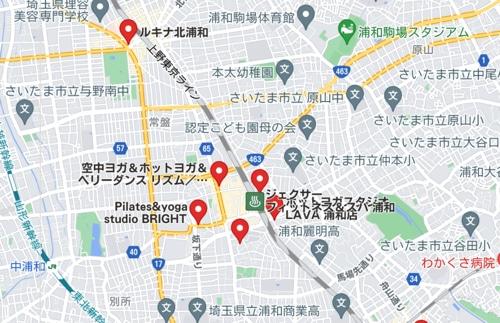 カルド浦和店と浦和駅周辺のホットヨガスタジオ比較