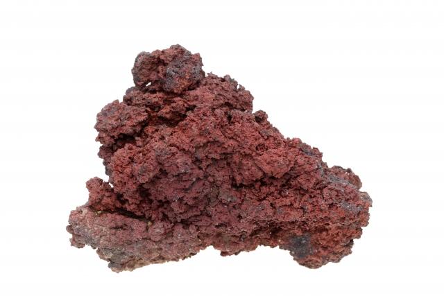 赤くてゴツゴツした溶岩石