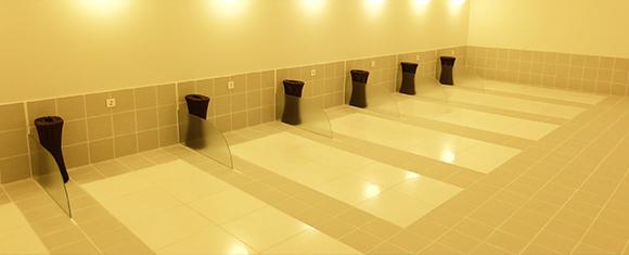 カルド琴似店の岩盤浴室内
