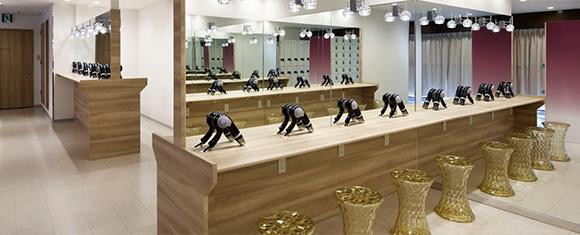 カルド銀座店のラグジュアリーなロッカールーム